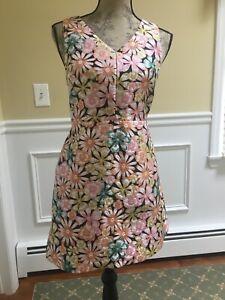 NWT Banana Republic Womens Floral Dress Size 2P Sleeveless Summer
