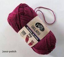 6 x 50g - Moda Vera Gelato 4ply Knitting Crochet Cotton blend yarn Magenta #13