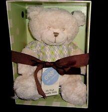 Cocalo Baby Teddy Bear Plush MY FIRST TEDDY KEEPSAKE GIFT Rattle argyle shirt