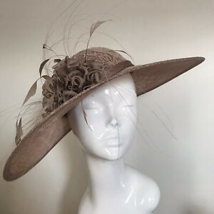 Exclusive Mocha Designer Millinery by Hat Couture Wedding Bridal Race Hat