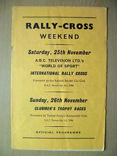 CLUBMEN'S RALLY CROSS Weekend- Intl Rally Cross/CLUBMEN'S Trophy, 25/26 November