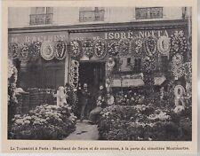 1897  --  TOUSSAINT MARCHAND DE FLEURS A LA PORTE DU CIMETIERE MONTMARTRE  3H890