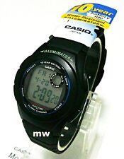 CASIO Digital Multi Alarm LED Light Resin Band Watch F-200W-1A 10 year battery