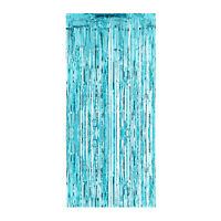 Temerity Jones Set Of 4 Blue Shimmer Foil Plastic Door Curtain Party Decoration