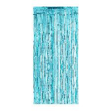 Timidez Jones Conjunto de 4 Azul Brillo Lámina Plástico Puerta Cortinas Fiesta Decoración