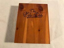 Cedar Bible Case Wood Wooden Box Desk Tabletop Holder Book Pistol Gun Display