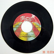 ONE 1982'S 45 R.P.M. RECORD, SHARON REDD, IN THE NAME OF LOVE + WE'RE FRIENDS AG