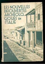 ENIT FERROVIE PELLATI F. LES NOUVELLES DECOUVERTES ARCHEOLOGIQUES EN ITALIE