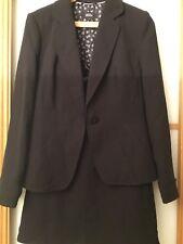 Black Marks & Spencer 3 Piece Suit, Jacket, Skirt & Trousers 10 / 12