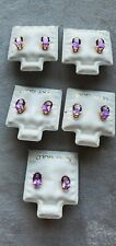 Amethyst stud earrings 14k natural. New listing
