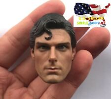 1/6 Superman Christopher Reeve Head Sculpt For Phicen Hot Toys Ganghood ❶USA❶