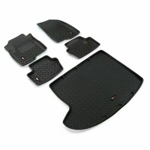 Rugged Ridge 12988.27 All Terrain Floor Liner Front And Rear 5-Piece Black NEW