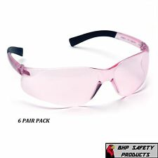 PINK LENS SIZE SMALL SAFETY GLASS WOMEN YOUTH PYRAMEX MINI ZTEK S2517SN (6 PAIR)