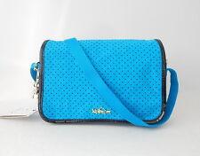 NWT Kipling Delphin N Shoulder Bag With Furry Monkey Agua Perfo