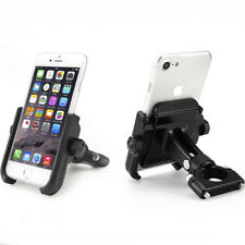 Black Motorcycle Bicycle Bike Handlebar Mount Holder For GPS Mobile Cell Phone