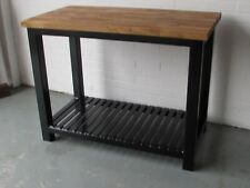 Kitchen Island Butchers Block Solid Steel EX DISPLAY BASE ONLY