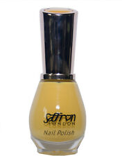 Glossy YELLOW Nail Polish / Varnish Saffron London 04 Yellow Cream