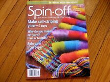 Spin-off magazine Spring 2011 Helix Scarf Self-sriping Yarn Pseudorolags Socks+