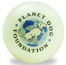 "Indestructible 3"" Dog Ball Planet Dog Foundation Glow in the Dark Dog Toy"