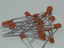 20pk - .001uf/25V Disc Capacitors - Long Leads