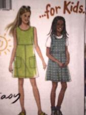 UNCUT Vintage New Look SEWING Pattern 7 8 9 10 11 12 Girls Dress 6621 OOP FF SEW
