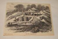 1880 magazine engraving ~ MICA MINE, BAKERSVILLE, North Carolina