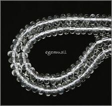 """15.8"""" Clear Quartz Rondelle Beads 6mm #78232"""