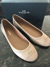 Coach Chelsea Matte Calf/patent Beechwood Leather Flat Shoes Size 8