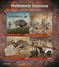 More details for liberia stamps 2020 mnh prehistoric humans neanderthals cave art fossils 4v m/s