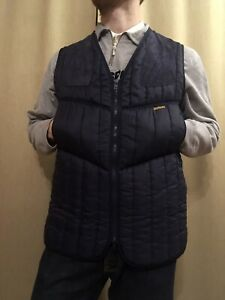 Barbour Hunting Dark Blue Nylon Vest Size M Made in England