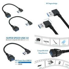 UCEC SHORT SuperSpeed USB 3.0 Extension Cable - A Black-Left & Right Angle