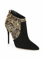 $975+NEW Alexandre Birman Women's Python & Black Suede Ankle Boots SZ IT40/US9.5