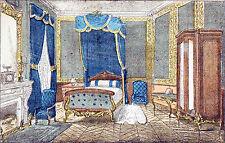 PARIS - APPARTEMENT HAUSSMANNIEN : CHAMBRE à COUCHER - Gravure du 19e siècle