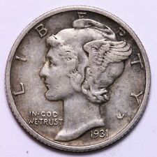 1931 S Mercury Dime circulated 90% Silver Xf Extra Fine