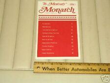 1976 Mercury MONARCH Car Owner's Instruction Manual