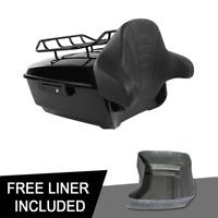 King Pack Trunk Backrest Luggage Rack Fit For Harley Tour Pak Road Glide 14-20