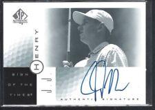 J.J. HENRY 2001 SP AUTHENTIC SIGN OF THE TIMES #JJ AUTOGRAPH SP