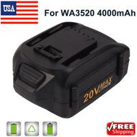20VOLT 4.0Ah Max Lithium Extend Battery For Worx WA3520 WA3525 WG151 WG155 WG163