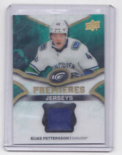 18-19 UD Ice Elias Pettersson Jersey Rookie Premieres Canucks 2018