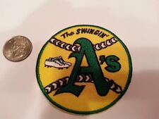 "Oakland A's Athletics ""The Swingin"" Vintage Embroidered Iron On Patch 3"" 1970'S"