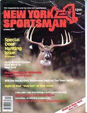 New York Sportsman Magazine October 1988 Deer Hunting EX No ML 092816jhe