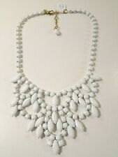 Ann Taylor LOFT Women White Coated Link Cut Out Bib Necklace nwt 54.50