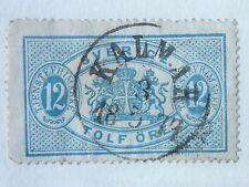 Suecia -- SG 034 - 1874 sello oficial 12ore Azul-Usado