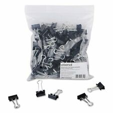 Universal Small Steel Wire Metal Binder Clips Black Silver 144 Ct