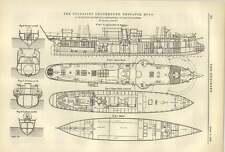 1887 Toussaint l'ouverture expédition bateau section et les Ponts