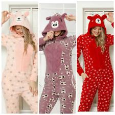 Damen Pyjama Einteiler POLAR Schlafanzug mit Reißverschluss Lang Warm S-06