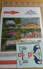 DÉCALS 1/24 réf 939 Citroën Xsara Wrc Loeb 1er Turquie  2005