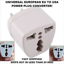 Universal European EU to US USA Travel Power Plug Adapter Charger Wall Converter