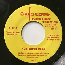 "CONTENDER DEMO 7"" 45 LIMIT 50 private xian christian metal melodic hard rock aor"