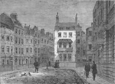 ST.JAMES'S. St. James's Place. London c1880 old antique vintage print picture